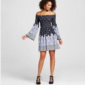 XHILARATION TARGET •shmoked off the shoulder dress